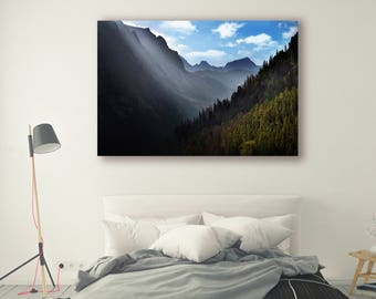 Mountains Print Large Wall Art Print Thick Forest Photography Print Nature Photography Neutral Wall Decor Mountains Clouds PH049