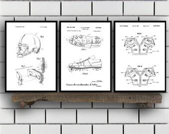 Football Patent Prints - Set of 3 - Football Decor - Football Art - Football Blueprint - Football - Football Art SP213