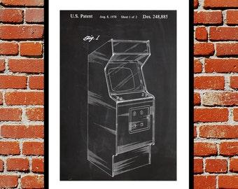 Arcade Game Cabinet Print, Arcade Game Cabinet Poster, Arcade Game Cabinet Patent, Arcade Game Cabinet Decor, Arcade Game Cabinet Art  p029