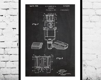Microphone Print, Microphone Poster, Microphone Patent, Microphone Decor, Microphone Art, Microphone Wall Art, Microphone Decor p208