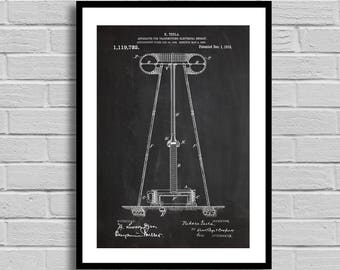 Tesla Energy Transmitter Patent Energy Transmitter Patent Poster Energy Transmitter Blueprint Energy Transmitter Print Engineer Gift p04