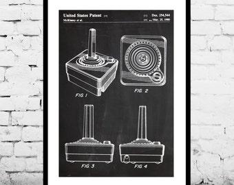 Atari Controller Poster, Atari Controller Art,Atari Controller Print,Atari Controller Patent,Atari Controller Decor,Vintage video game p1178