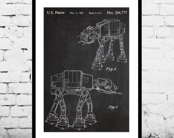 Star wars patent Star Wars Poster Star Wars Patent art patent art AT-AT Star Wars Print Star Wars Art Star Wars decor patent art p942
