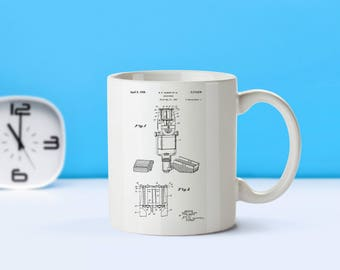 Microphone patent mug  coffee mug  coffee lover  patent art  patent mug  Music Decor Musician Gift Music Room Decor VintageM149