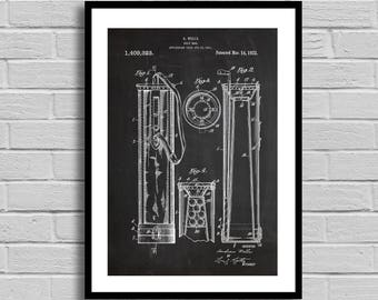 Golf Bag Patent, Golf Bag Patent Poster, Golf Bag Blueprint, Golf Bag Print, Golf, Golf Decor, Sports Decor,Gifts for Him,Vintage Decor p809