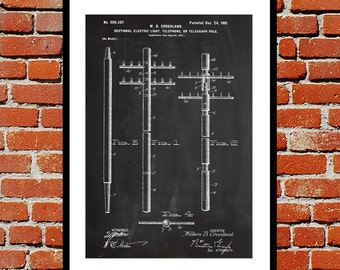 Telephone Wire Patent Telephone Wire Poster Telephone Wire Blueprint  Telephone Wire Print Telephone Wire Art Telephone Wire Decor p292