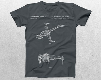 Star Wars X Wing Patent T-Shirt, X Wing Blueprint, Star Wars Patent Print T-Shirt, Star Wars T-Shirt, Star Wars Gifts, p930
