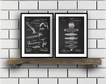 Cigar and Smoking Invention Poster 2 PACK set Cigar Patent Cigar Prints Cigar Gifts Cigar Art Cigar Wall Decor Cigar Wall Art SP204