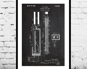 Curling Iron Patent Curling Iron Poster Curling Iron Blueprint Curling Iron Print Curling Iron Art Curling Iron Decor p996