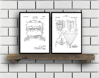 skydiving Patents Set of 2 Prints skydiving Prints skydiving Posters skydiving Blueprints skydiving Art skydiving SP357