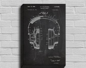 CANVAS  Headphones Patent Headphones Poster Headphones Blueprint Headphones Print Headphones Art Headphones Decor p157