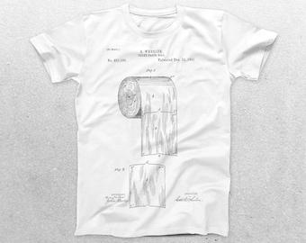 Toilet Paper T-Shirt, Toilet Paper Blueprint, Patent Print T-Shirt, Toilet Paper T-Shirt, Plumber Gifts, Fun T-Shirt Ideas p347