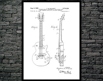 Gibson Les Paul Guitar Print, Gibson Les Paul Guitar Poster, Gibson Les Paul Patent, Les Paul Guitar Art, Gibson Les Paul Decor p806