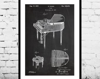 Piano Print, Piano Poster, Piano Poster, Piano Wall Art, Piano Blueprint, Piano Art, Piano Wall Decor, Musician Gift, Musical Instrumentp843