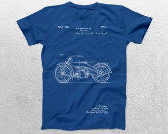 Motorcycle Patent T-Shirt, Motorcycle Blueprint, Patent Print T-Shirt, Mechanic Shirt, Biker Gift, Vintage Art p1131