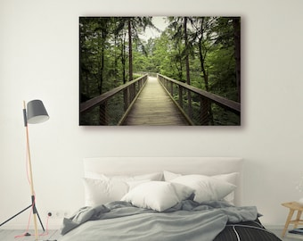 Hiking Path Photography Boardwalk in Forest Tree Art Boardwalk Trail Nature Photography Home Decor tree Photo Decor Hiking PH031