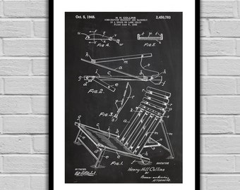 Beach Chair Patent Beach Chair Poster Beach Chair Blueprint  Beach Chair Print Beach Chair Art Beach Chair Decor p045