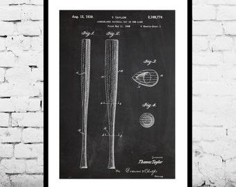Baseball Bat Patent, Baseball Bat Poster, Baseball Bat decor,Baseball Print, Baseball Art, Baseball Print, p403