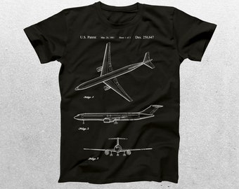 Airplane Patent T-Shirt, Airplane Blueprint, Patent Print T-Shirt, Vintage Aircraft Shirt, Aircraft T-Shirt, Pilot Gifts p1087