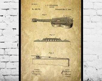 Acoustic Guitar Patent, Acoustic Guitar Poster, Acoustic Guitar Print, Acoustic Guitar Decor, Acoustic Guitar Blueprint p372