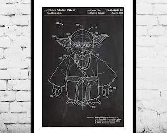 Star Wars Yoda Patent Yoda Poster Yoda Print Yoda Art Yoda Decor Yoda Wall Art Yoda Blueprint patent patent art star wars p947