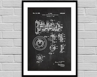 Engine Crank Shaft Patent, Engine Crank Shaft Patent Poster, Engine Crank Shaft Blueprint, Engine Crank Shaft Print, Auto Gifts p1405