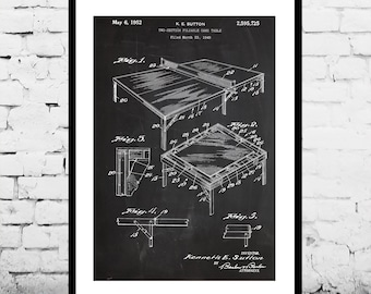 Ping Pong Table Print, Ping Pong Table Patent, Ping Pong Table Poster, Ping Pong Table Decor, Ping Pong Table Art p232