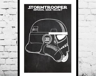 Star Wars Stormtrooper Toy Helmet Decor Star Wars Patent Print Poster Wall Decor Star Wars p1426
