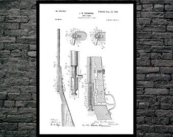 Browning Bolt Gun Poster Browning Bolt Gun Patent Browning Bolt Gun Print Browning Bolt Gun Art Browning Gun Blueprint Gun Decor p1240