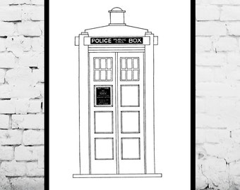 Doctor Who TARDIS Patent Dr. Who TARDIS Poster TARDIS Blueprint  Dr. Who Tardis Print Dr. Who Art Doctor Who Tardis Decor p096