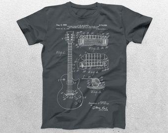 Fender Guitar Patent T-Shirt, Fender Guitar Blueprint, Patent Print T-Shirt, Guitarist Shirt, Musician Gift, Band tee, patent shirt p805