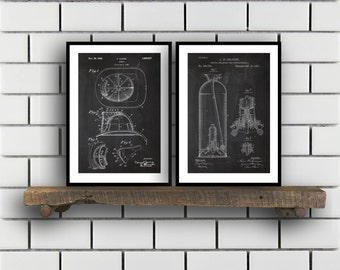 Firefighter Poster Patent Prints Firefighter patent print vintage Firefighter art Invention Patent Firefighter Poster Firefighter SP276