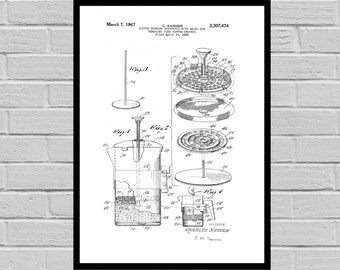Coffee Related Patent - Coffee Percolator- Coffee Art - Coffee Poster - Coffee Grinder Patent - Percolator Patent -French Press Patent p1350
