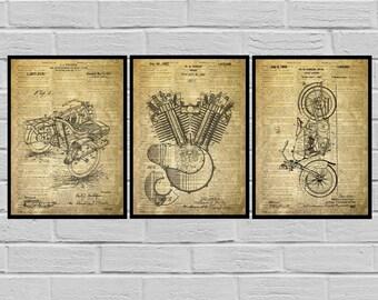 Harley Davidson Poster - motorcycle prints - Harley Poster - Harley Davidson Motorcycle - Harley Engine - Harley - Motorcycle sp513