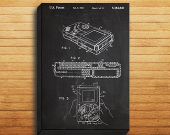 CANVAS  Game Boy Nintendo Art Game Boy Nintendo Print Game Boy Nintendo Patent Game Boy Nintendo Poster Game Boy Nintendo Decor p135