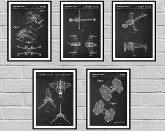 Star Wars patent Millennium Falcon Tie Bomber Xwing ATAT Star Wars Poster Star Wars Patent Millennium Falcon Star Wars Print sp414