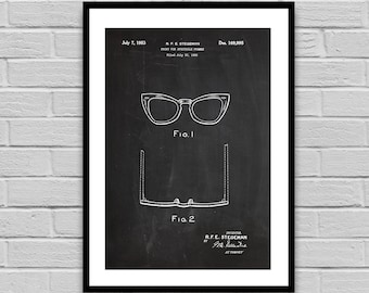 Spectacle Frames Patent Spectacle Frames Poster Spectacle Frames Blueprint Spectacle Frames Print Optometry Decor p1334