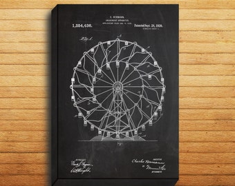 CANVAS  Ferris Wheel Patent Ferris Wheel Poster Ferris Wheel Blueprint Ferris Wheel Print Ferris Wheel Art Ferris Wheel Decor p110