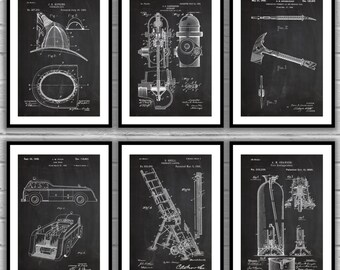 Fire man Patent Posters, firefighter patent, Fire Truck Wall Art, Firefighter Nursery, Fireman Helmet, Firefighter Wall Decor, sp507