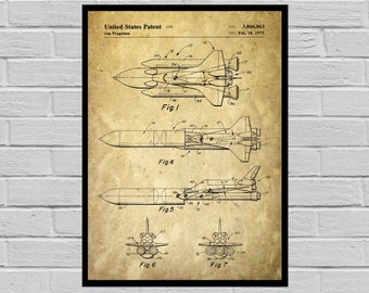 NASA Space Shuttle Print, NASA Space Shuttle Poster, NASA Space Shuttle Patent, Nasa Space Shuttle Blueprint, Nasa Space Shuttle Art p1151