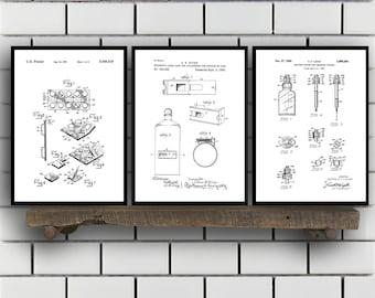 Drugstore Patent Prints Set of THREE, Drugstore Invention Patents, Drugstore Poster, Drugstore Inventions, Pharmacist Decor, Pharmacy SP385