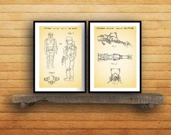 Star wars patent Star Wars Poster Star Wars Patent Star Wars Print Star Wars Art Star Wars boba feet patent patent art patent SP85