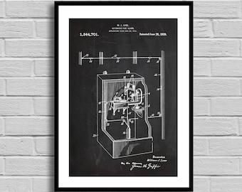Automatic Fire Alarm Patent Fire Alarm Patent Poster Fire Alarm Blueprint Fire Alarm Print Vintage Home Decor Fireman Gift Firefighter p346