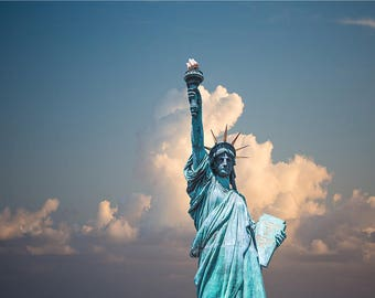 Travel Photography Sky scape Lady Liberty Landscape Photography Home Decor Wall Decor Scenery PH0165