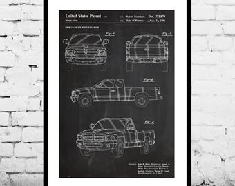 Dodge Ram 1997 Patent, Dodge Ram Patent, Dodge Truck, Dodge ram, Car enthusiast, Gift for him, Dodge, Dodge wall art, Dodge vehicle, p1101