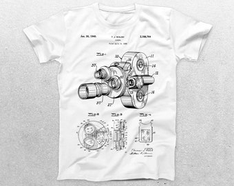 Camera Patent T-Shirt, Vintage Camera Blueprint, Patent Print T-Shirt, Photographer gift, Vintage art, Photography, camera shirt p650