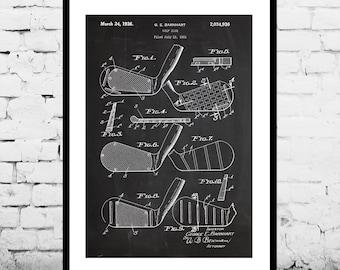 Golf Club Print, Golf Club Poster, Golf Driver Patent, Golf Club, Golf Club Art, Golf Club Decor, Golf Club Blueprint, Golf Club SP143