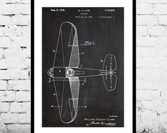 Airplane Patent Airplane Decor Airplane Art Airplane Print Aviation Decor Airplane Patent Aviation Art Aviation Art Pilot Gift p360