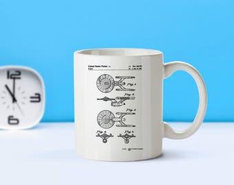 Starship Enterprise patent mug  coffee mug  coffee lover  patent art  patent mug  Star Trek Movie DecorTV DecorVintageSci FiM47