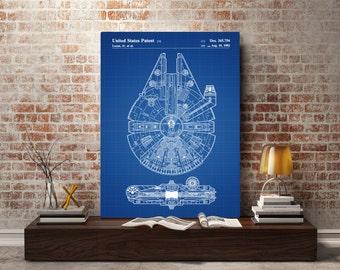 Star Wars Millennium Falcon Star Wars Poster Millennium Falcon Star Wars Patent Millennium Falcon Star Wars Print Millennium Falcon p933